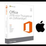 Microsoft Office 2016 Mac voor Thuisgebruik en Zelfstandigen € 70,-